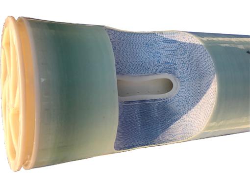 Fordított ozmózis elvű membránszűrő szerkezete