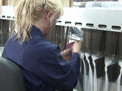 Folyadékszűrő textil szövése