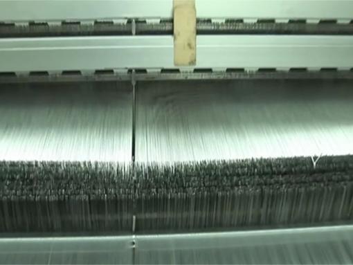 Folyadékszűrő textil szövés közben
