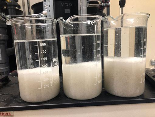 Szennyvízkezelés laboratóriumi kísérlet