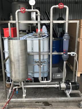 Víztisztítási kísérlet modellezése